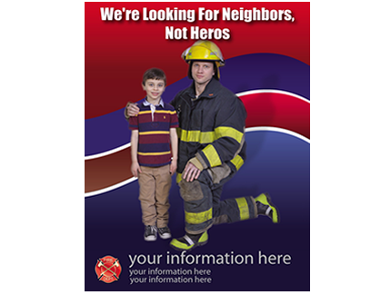 become a volunteer firefighter recruitment we are looking for neighbors flyer
