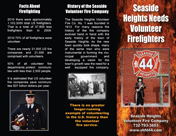 8.5 by 11 recruitment brochure for volunteer firefighters