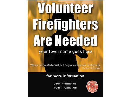 Volunteer Firefighter Recruitment Large Flyer 5 - Flames